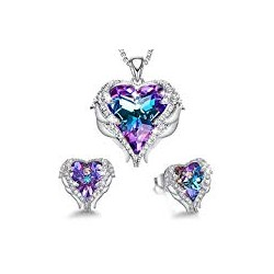 CDE Angel Wing Heart Necklaces and Earrings Christmas Jewelry Gifts