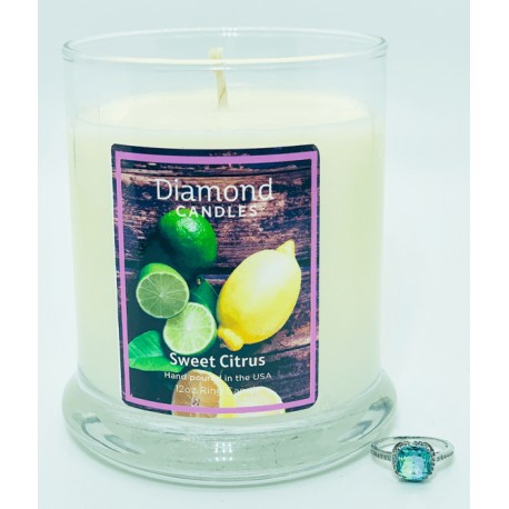 Sweet Citrus Ring Candle with RINGREVEAL