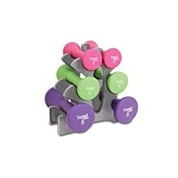 Tone Fitness 20-Pound Hourglass Dumbbell Set