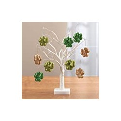 Fox Valley Traders Pre-Lit White Wire 18in Tabletop Tree