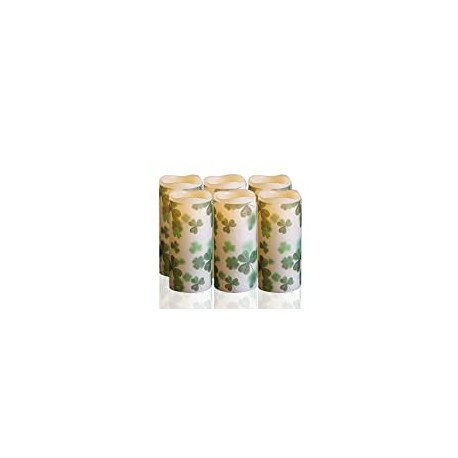 LECANI St Patrick Day Gifts, 6 Packs Candles