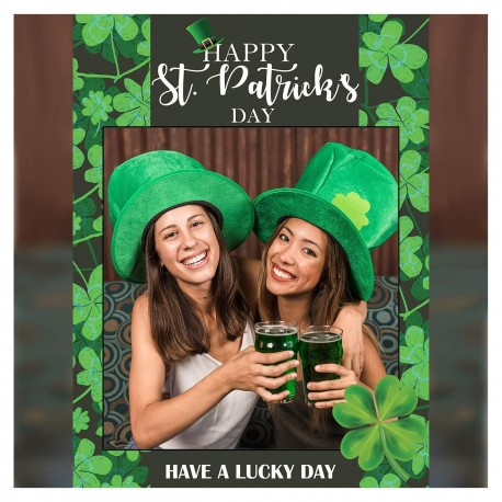 Large St Patrick's Day Decorations, Shamrock Photo Booth Frame
