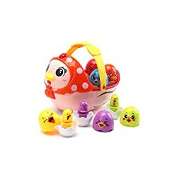 Amy&Benton Easter Toy Hen Chicken Eggs for 2 3 4 5 Year Old Baby