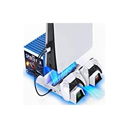OIVO PS5 Stand with Suction Cooling Fan and Dual Controller Charger Station