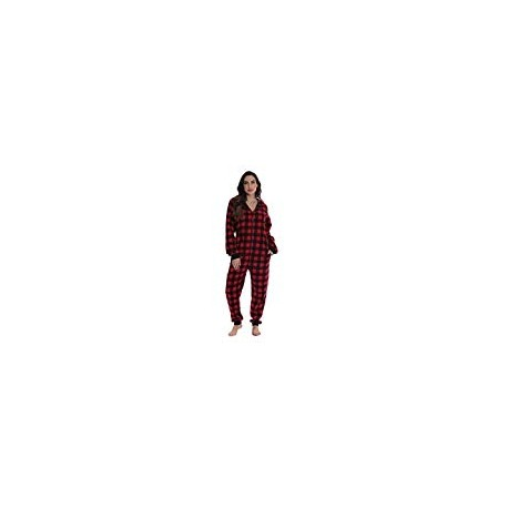 followme Matching Adult Onesie for Family, Couples, Dog and Owner Buffalo Plaid