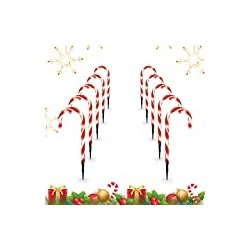 Candy Christmas Lights, Candy Cane Lights Outdoor Pathway