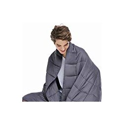 ZonLi Cooling Weighted Blanket 15 lbs(60''x80'', Queen Size, Grey)