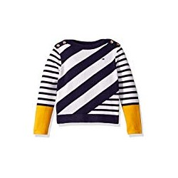 Tommy Hilfiger Girls' Big Adaptive Sweater with Velcro Brand Closure at Shoulder