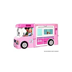 Barbie 3-in-1 DreamCamper Vehicle, approx. 3-ft, Transforming Camper with Pool, Truck